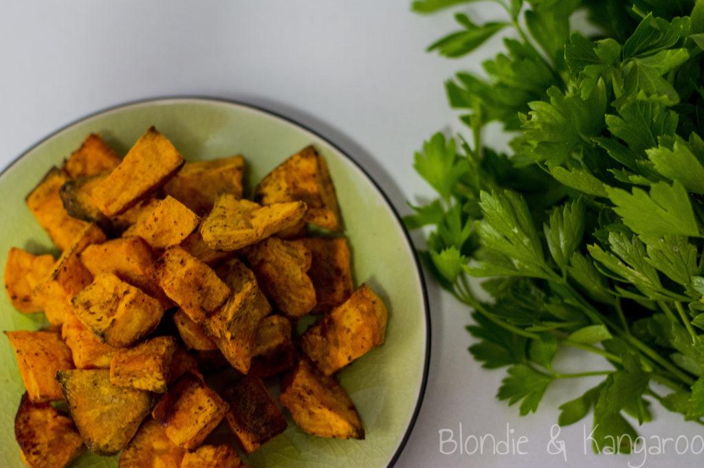 Batatowe kostki/Baked sweet potato cubes