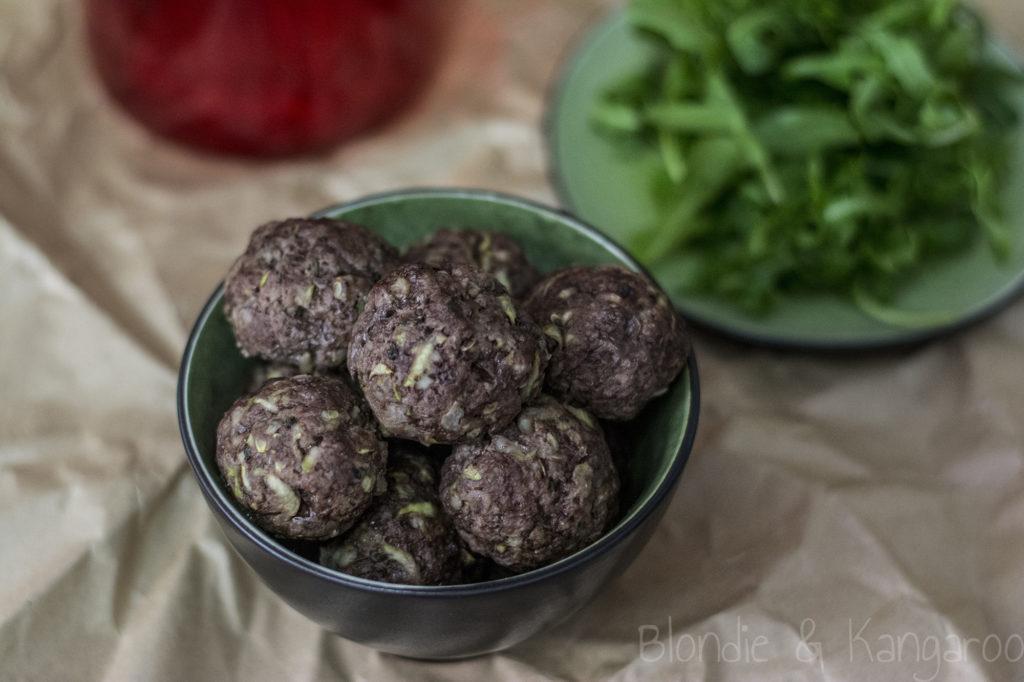 Wołowe pulpety zcukinią/Beef meatballs with zucchini