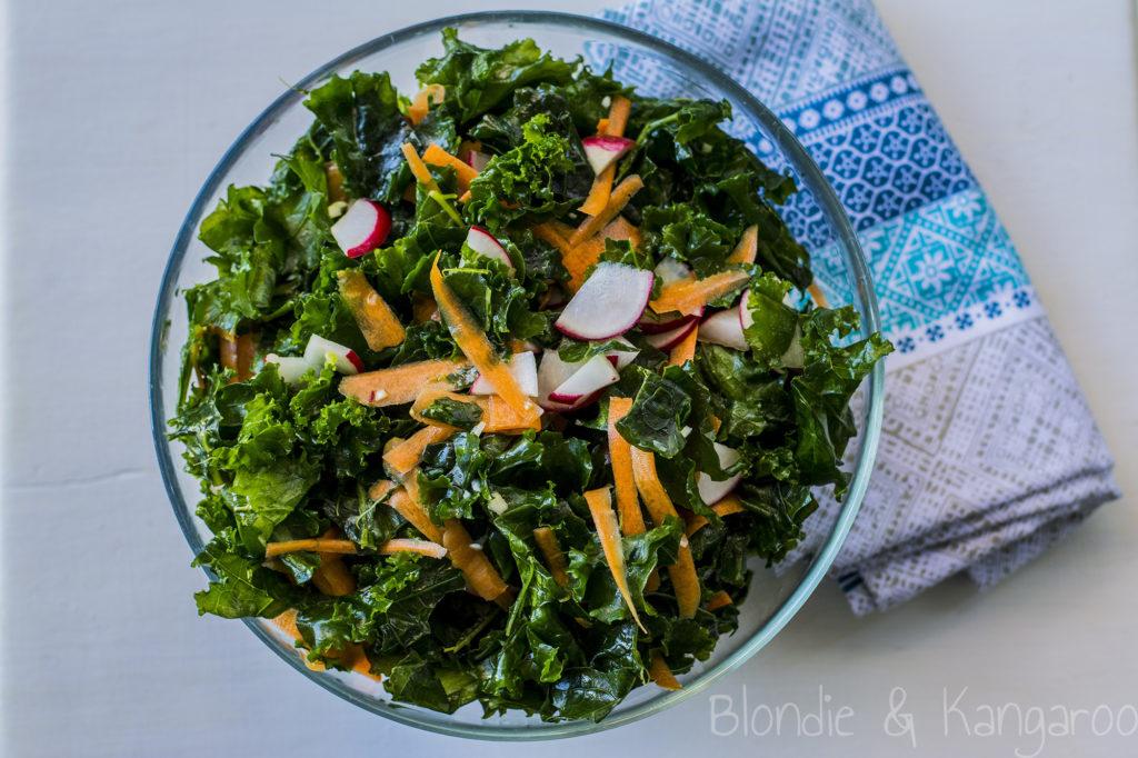 Sałatka zjarmużem/Kale salad