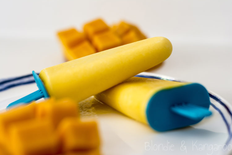 Lody o smaku mango z jogurtem/Mango yoghurt popsicles