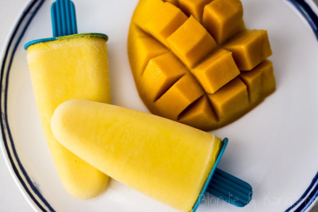 Lody osmaku mango zjogurtem/Mango yoghurt popsicles