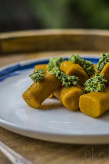 Bezglutenowe kopytka z dynii/Gluten-free pumpkin gnocchi