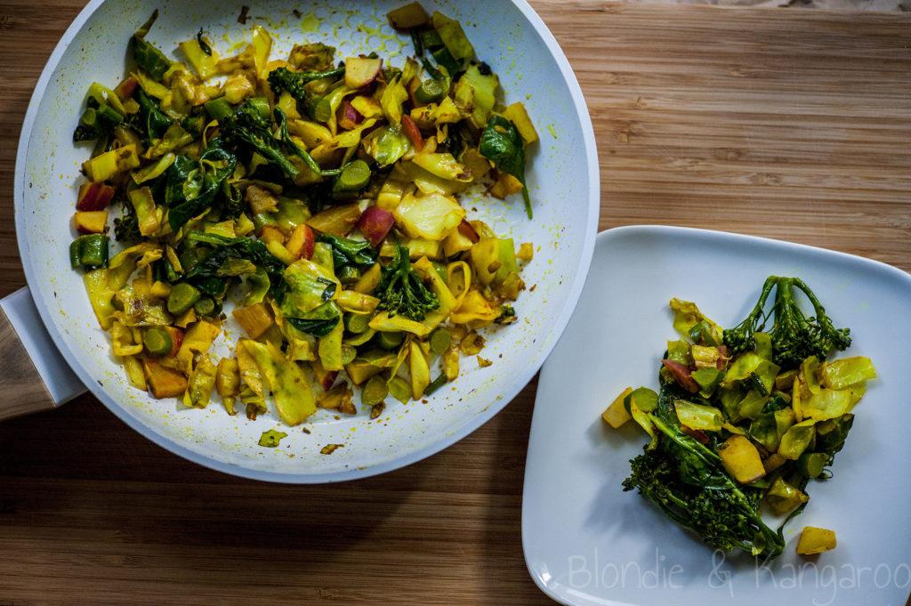 Zdrowe warzywa zpatelni/Healthy stir-fry veggies