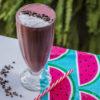 Raspberry banana chocolate smoothie/Koktajl malinowo-bananowy z czekoladą