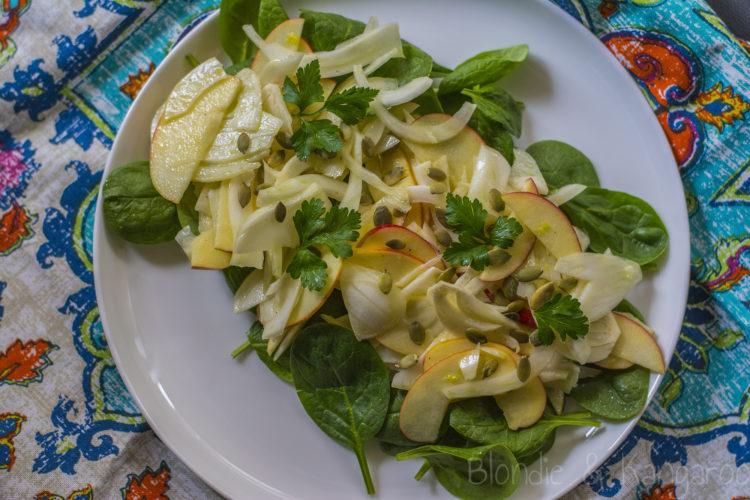 Sałatka z kopru włoskiego i jabłek/Fennel apple salad