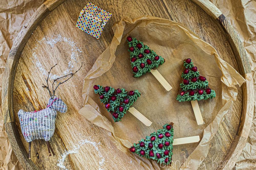 Czekoladowe choinki znutką pomarańczy/Chocolate Christmas Trees with ahint of orange