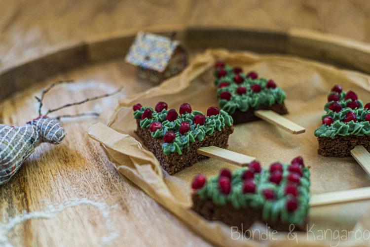 Czekoladowe choinki z nutką pomarańczy/Chocolate Christmas Trees with a hint of orange