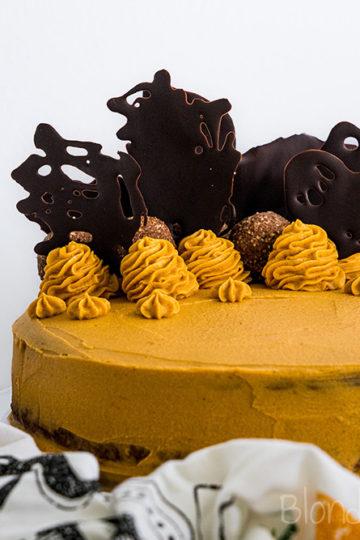 Tort czekoladowy z masłem orzechowym i batatem/Peanut butter chocolate cake with sweet potato
