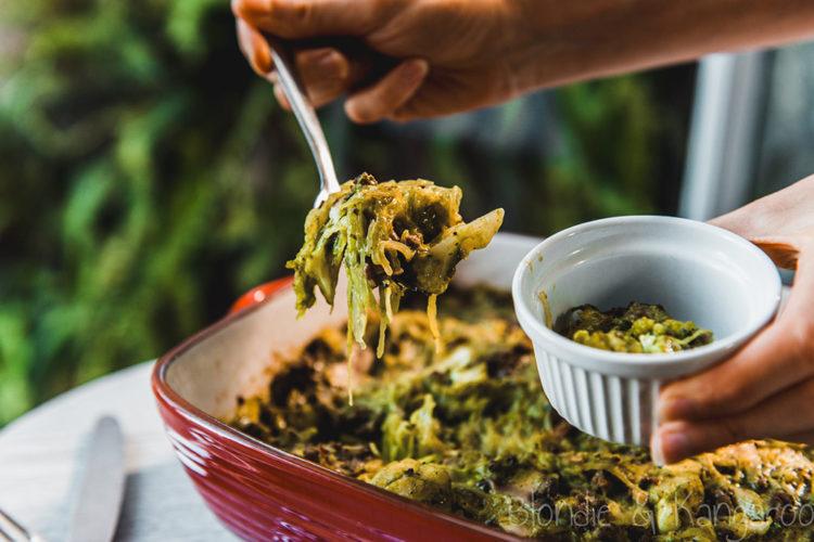 Kolendrowa zapiekanka z dyni makaronowej/Coriander spaghetti squash casserole