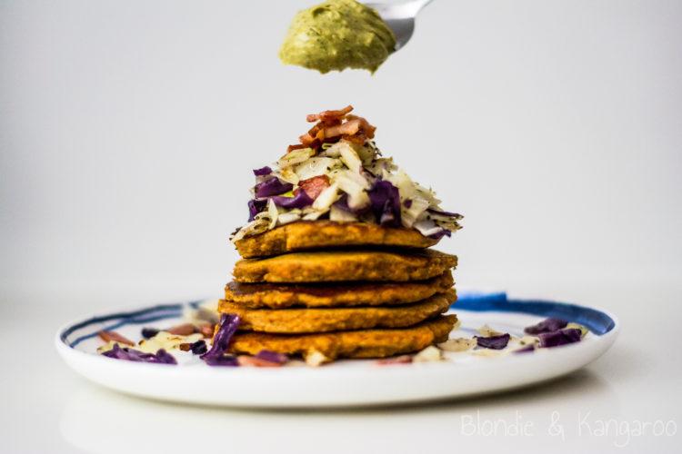 Placuszki ze słodkich ziemniaków/Sweet potato pancakes