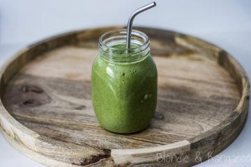Green nectarine smoothie/Koktajl z nektarynką