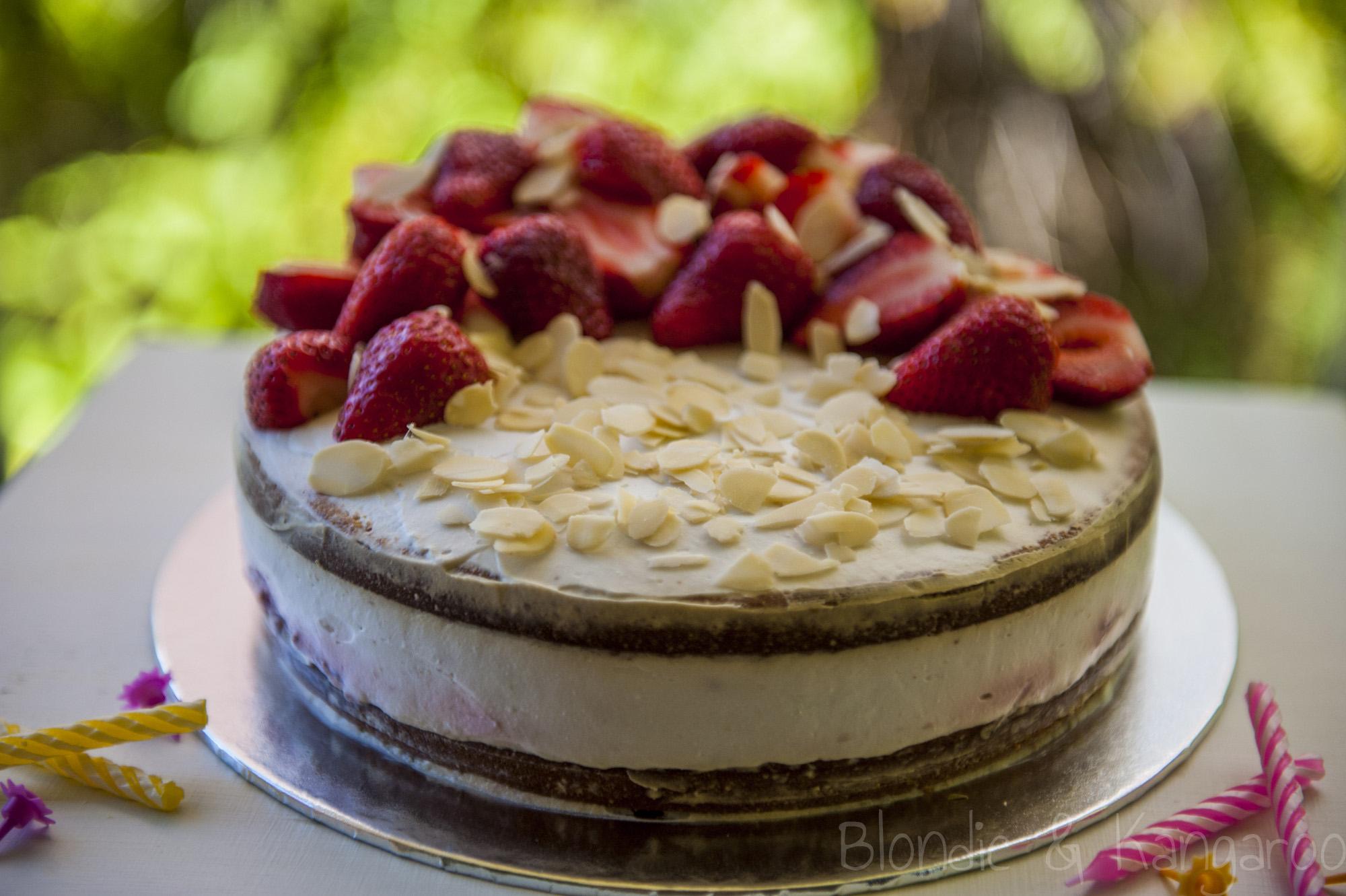 Gluten Free Strawberry Cake Australia