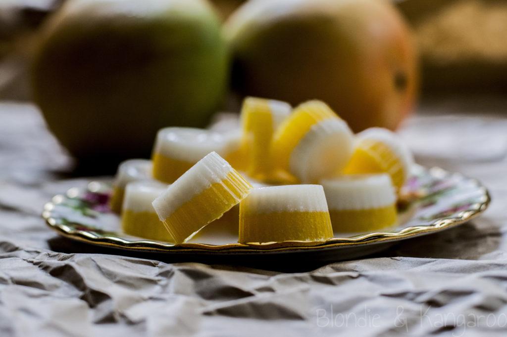 Galaretki osmaku mango zkokosem/Mango coconut gummies