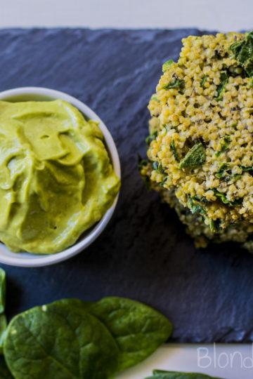 Millet spinach fritters/Szpinakowe placuszki jaglane