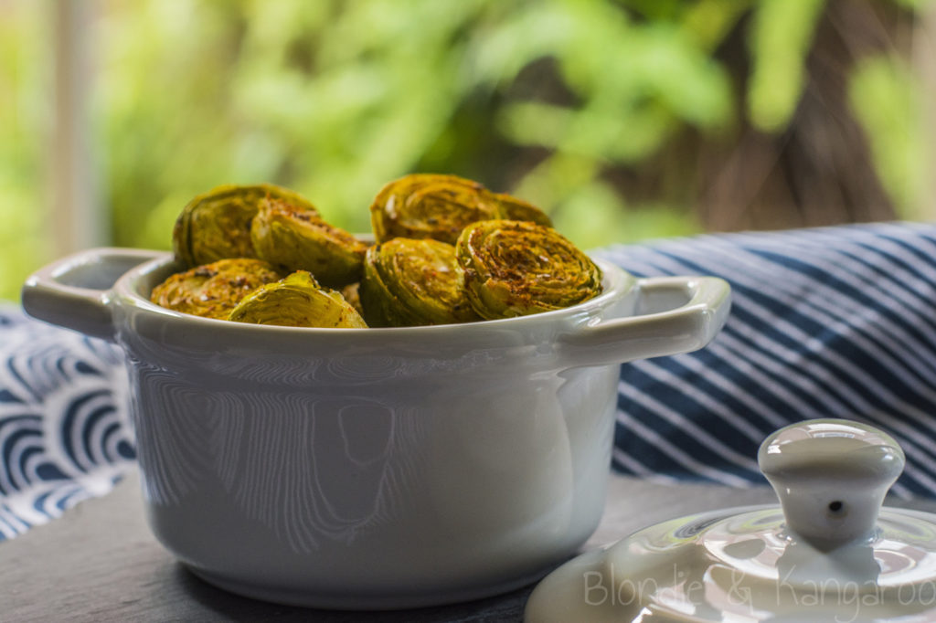 Roasted Brussels Sprouts/Pieczona brukselka